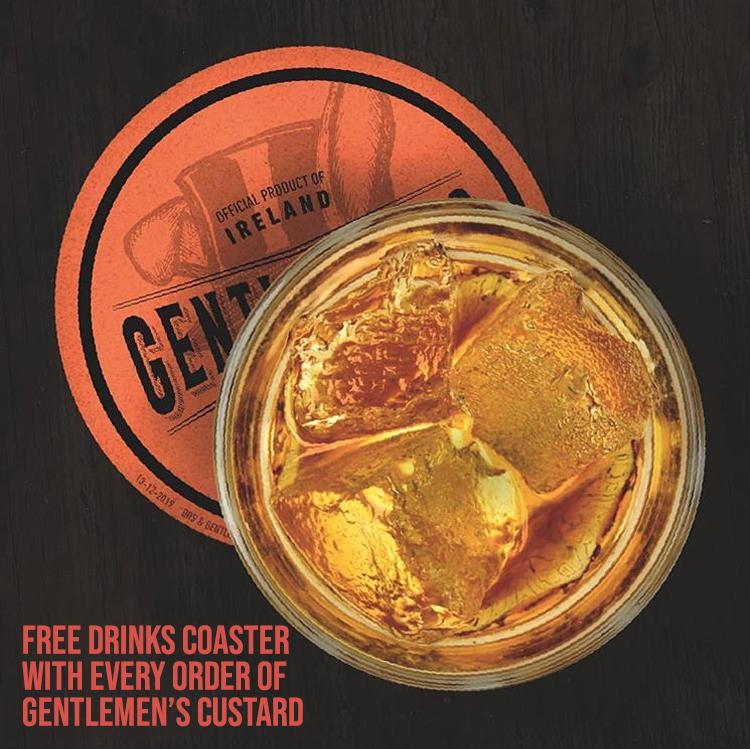 Gentlemen's Custard Drinks Coaster