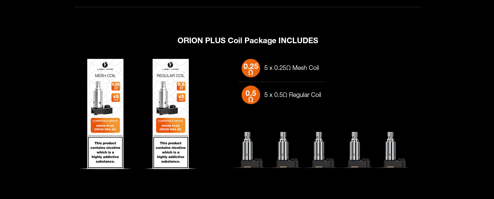 Lost Vape Orion Plus DNA Kit Coil Package