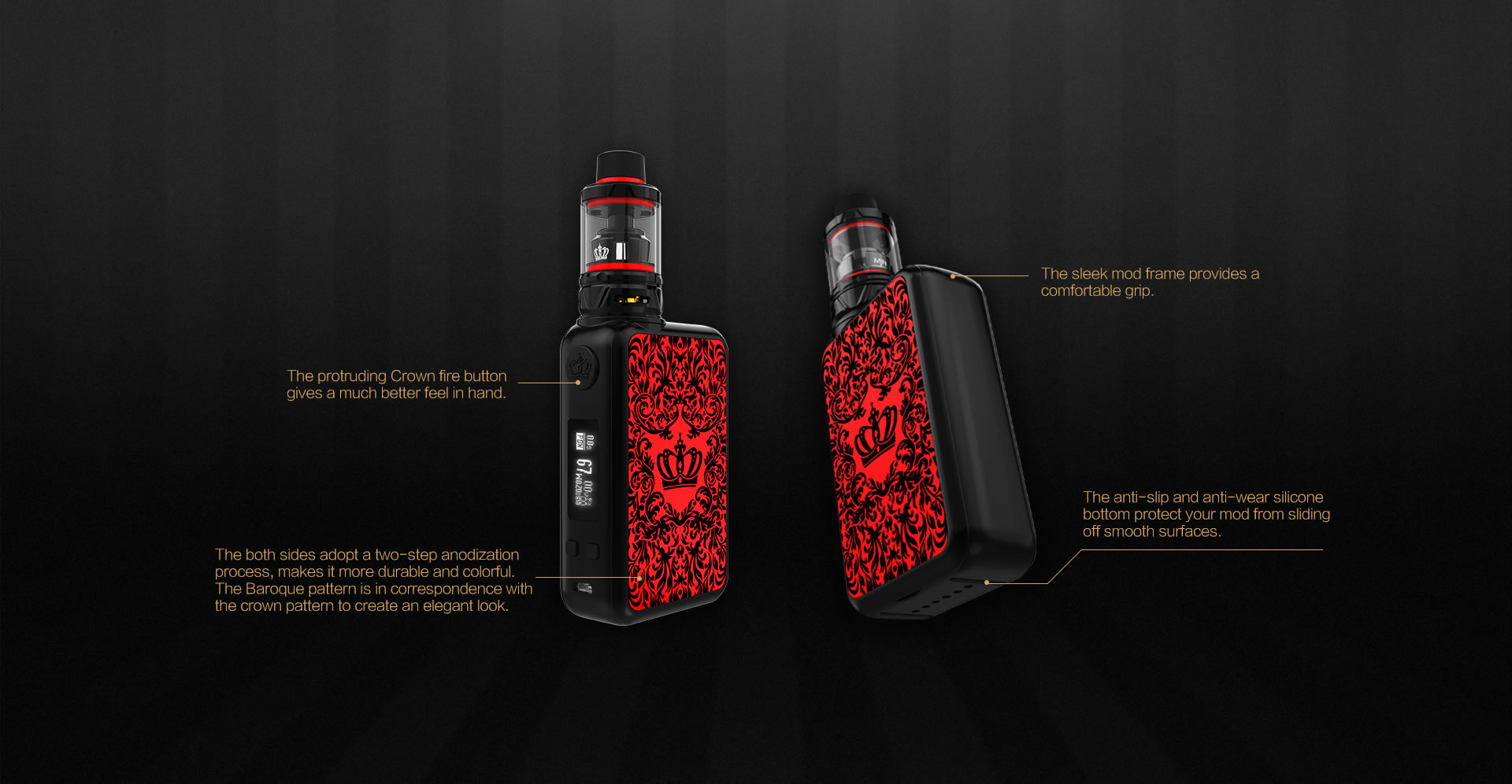 Uwell Crown IV Kit Features