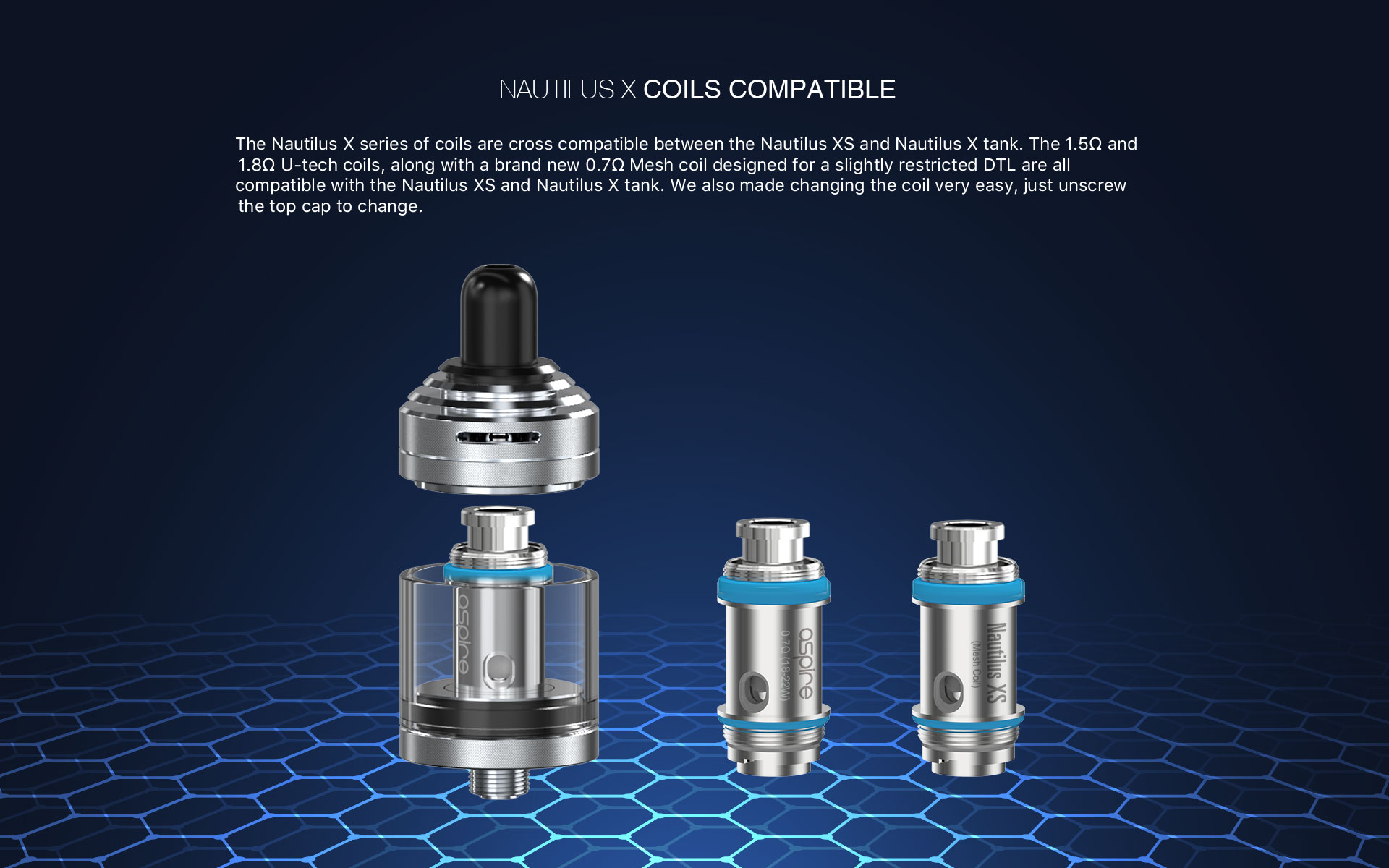 Nautilus XS Tank Compatible Coils