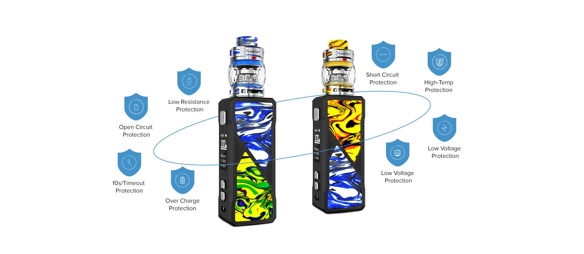 Freemax Maxus 100W Kit Protections