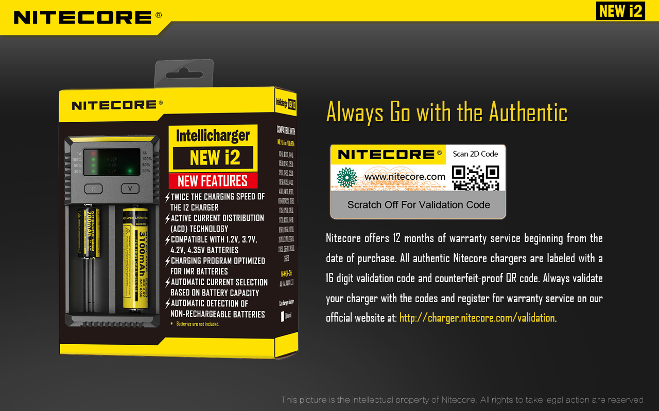 Nitecore i2 Authenticity