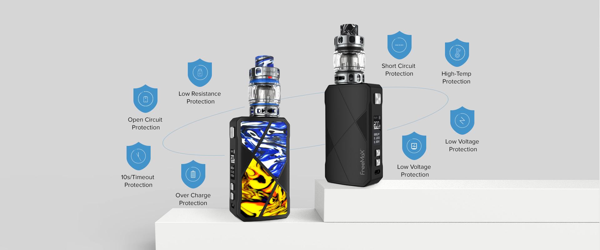 Freemax Maxus 200W Kit Protections