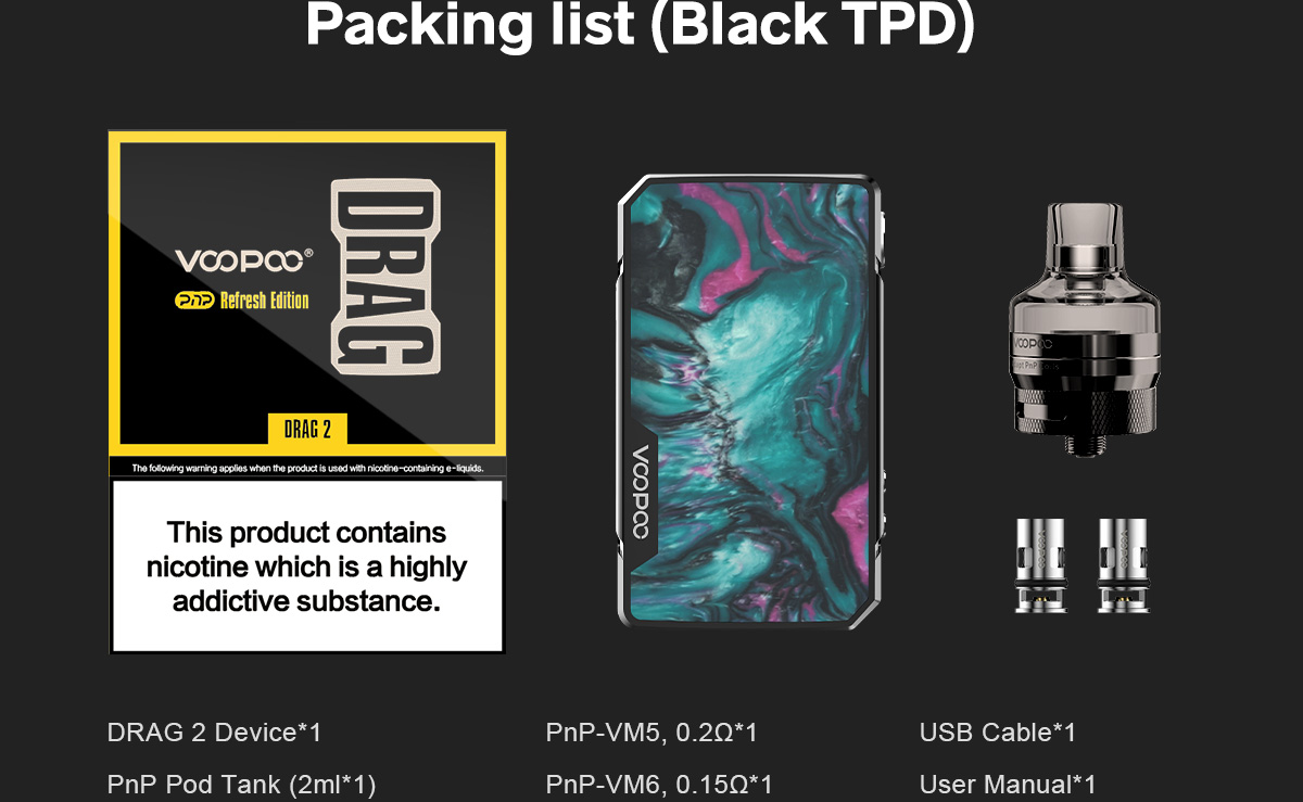 Voopoo Drag 2 Refresh Edition Package