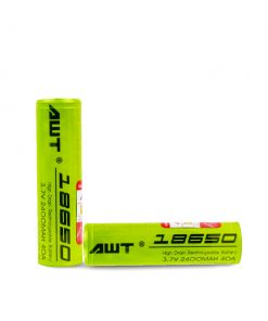 AWT 18650 2400 Battery 2 Pack
