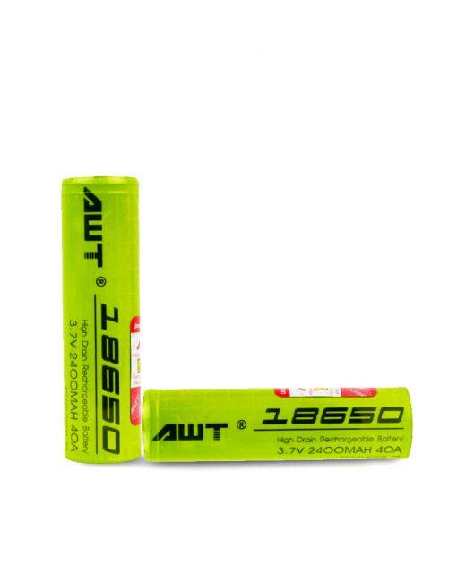 AWT 18650 2400 Battery 2 Pack